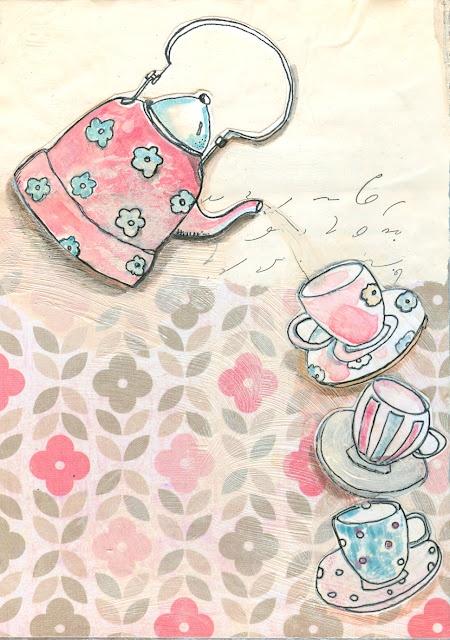 Drawn teapot cute Best Teapots illustrations 601 vintage