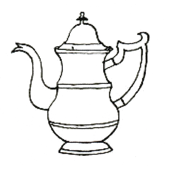 Drawn teapot outline American of Atheneum: drawing Dorchester