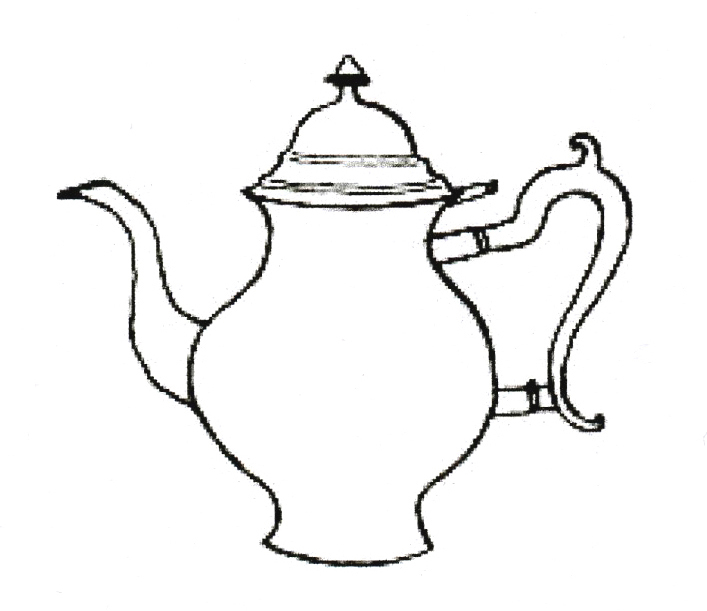 Drawn teapot outline Queen Atheneum: tea Dorchester revival