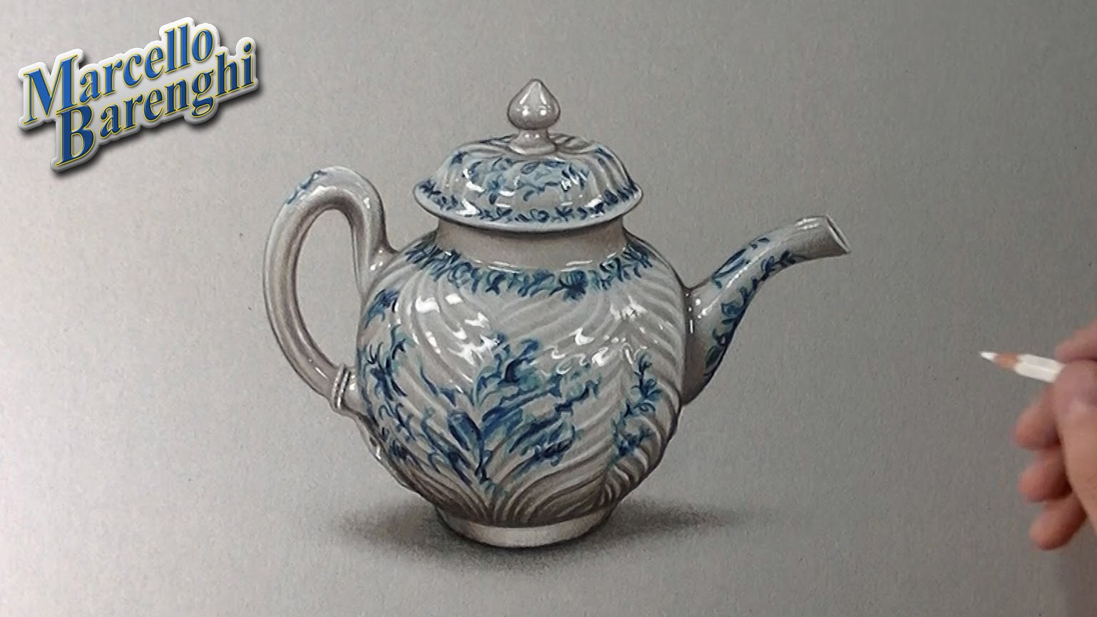 Drawn teapot porcelain How teapot to  a