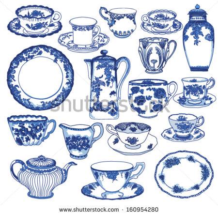 Drawn teapot porcelain Of China porcelain Set Fine