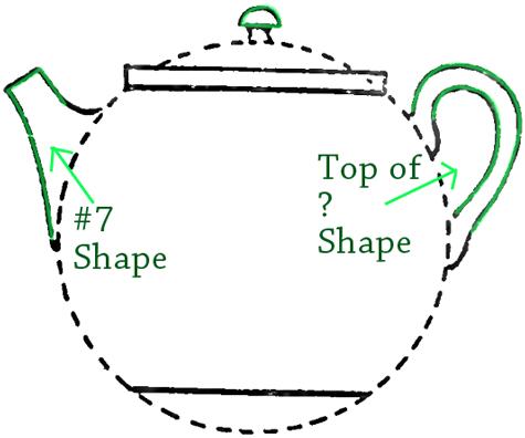 Drawn teacup teapot #7