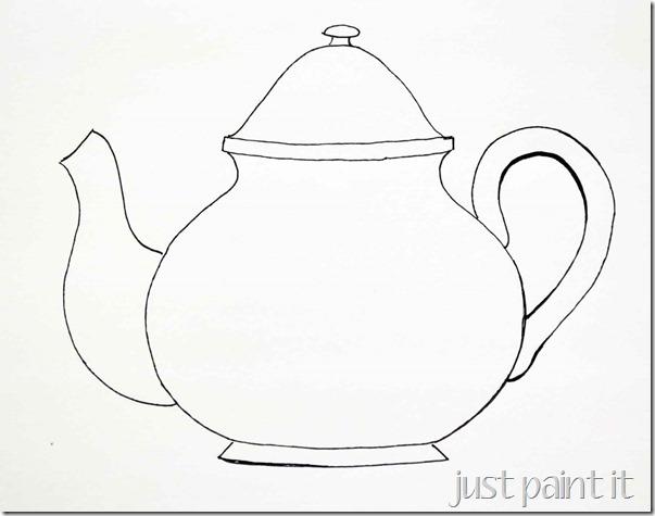 Drawn teacup teapot #2