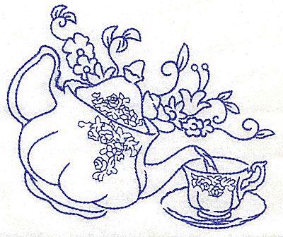 Drawn teacup teapot #3