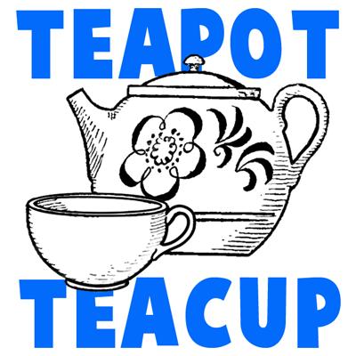 Drawn teacup teapot #4