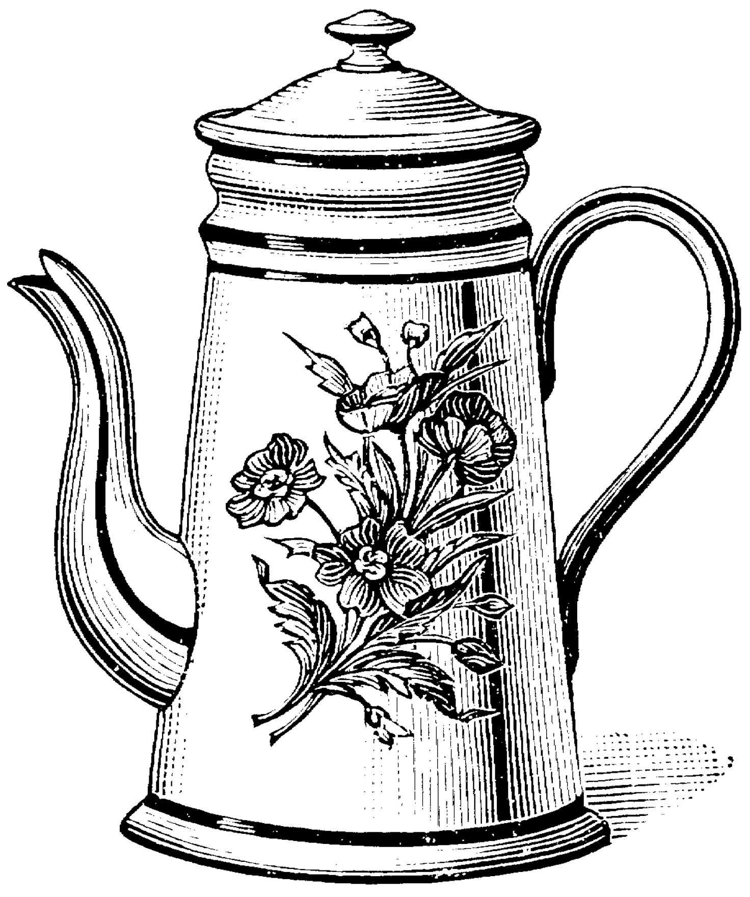 Drawn teacup teapot #5