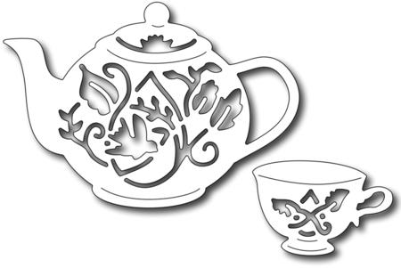 Drawn teacup tea set Die Themed tall Tea 1