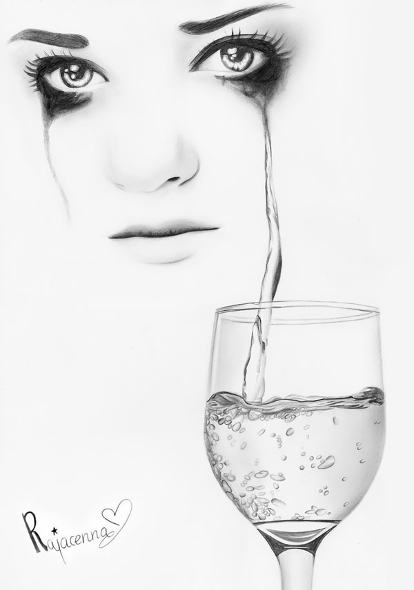 Drawn tears Pinterest by of pencil of