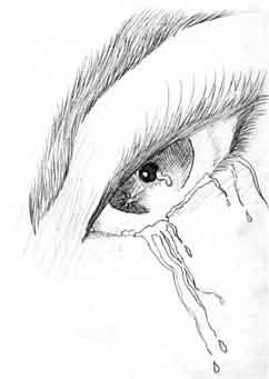 Drawn tears frustration Onlylonely4 awhile DeviantArt awhile by