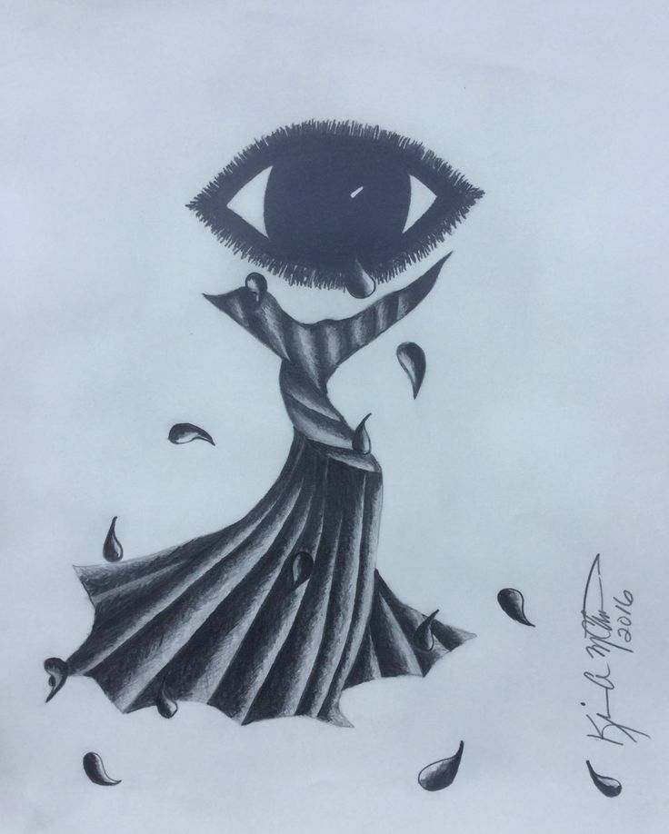 Drawn tears abstract Tears drawings Dress Abstract Best