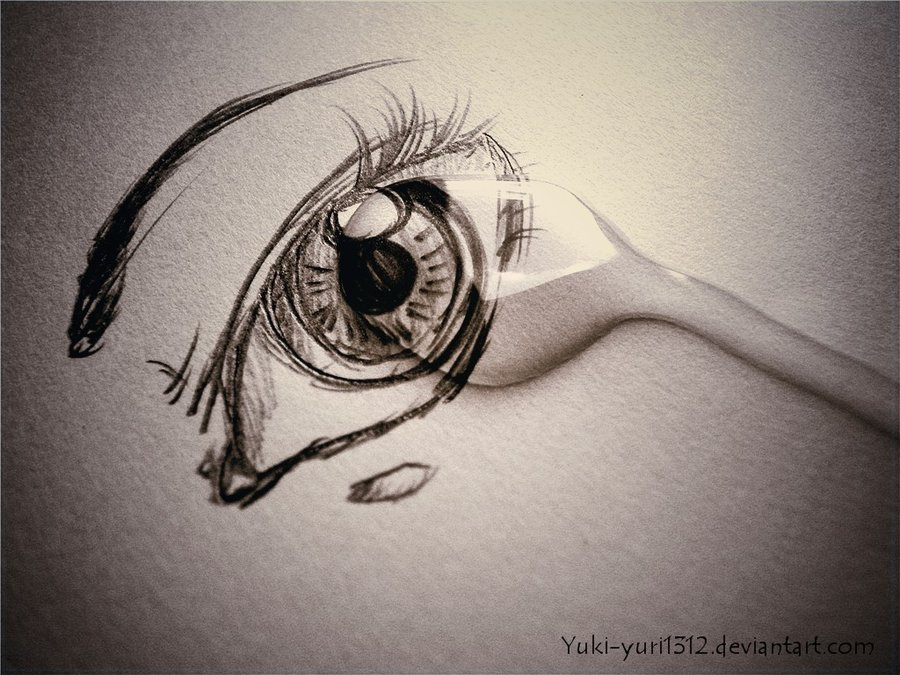 Drawn tears abstract By Yuki DeviantArt my by