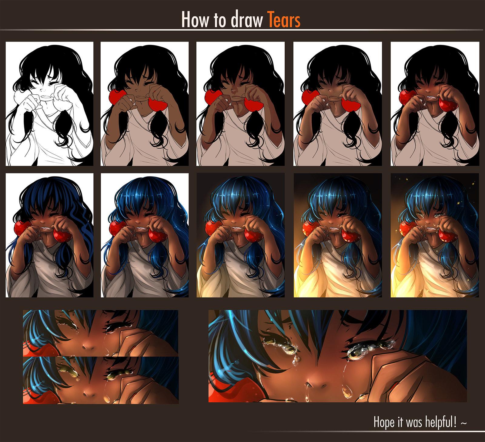 Drawn tears detail drawing Draw Yokufo  Tears To