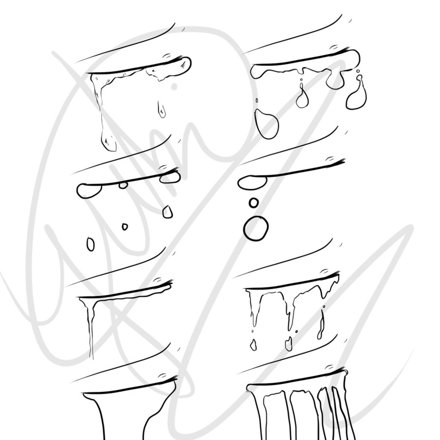 Drawn tears detail drawing Draw Tears 8 Tears 8