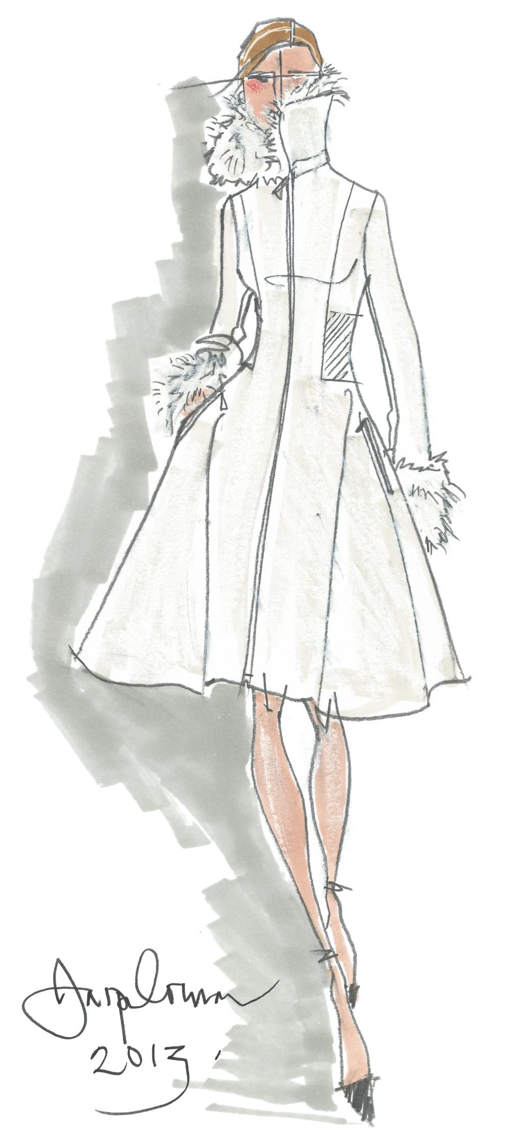Drawn tears fashion model Coat Bride sketch Sketches Drawn
