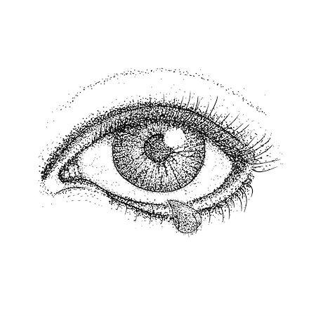 Drawn tears pain Tears pain pic Raster :