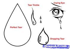 Drawn tears tear step by step And cartoon To How Girl