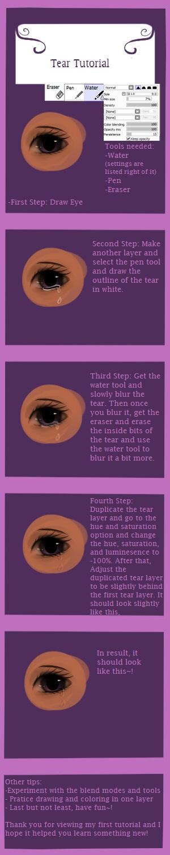 Drawn tears tear step by step Sai: Tear Tear on Sai: