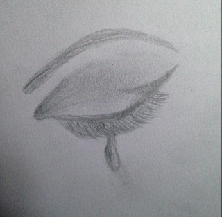 Drawn tears tear step by step Down realisticdrawing An Eyes Of