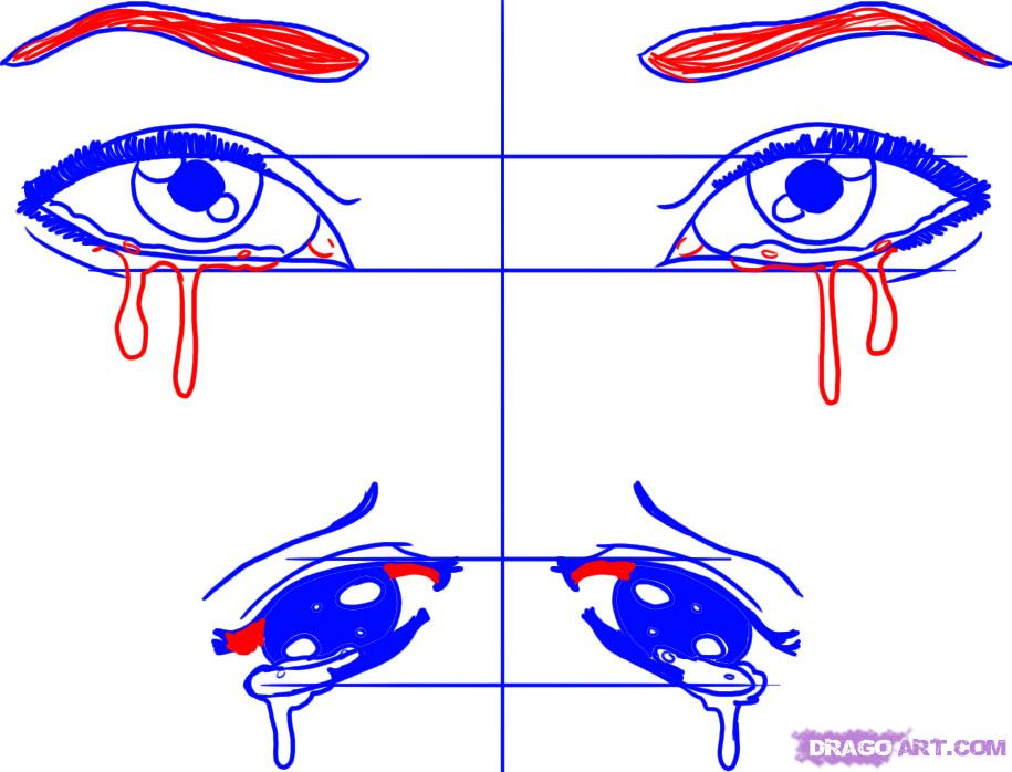 Drawn tears tear step by step Crying eyes crying Try draw