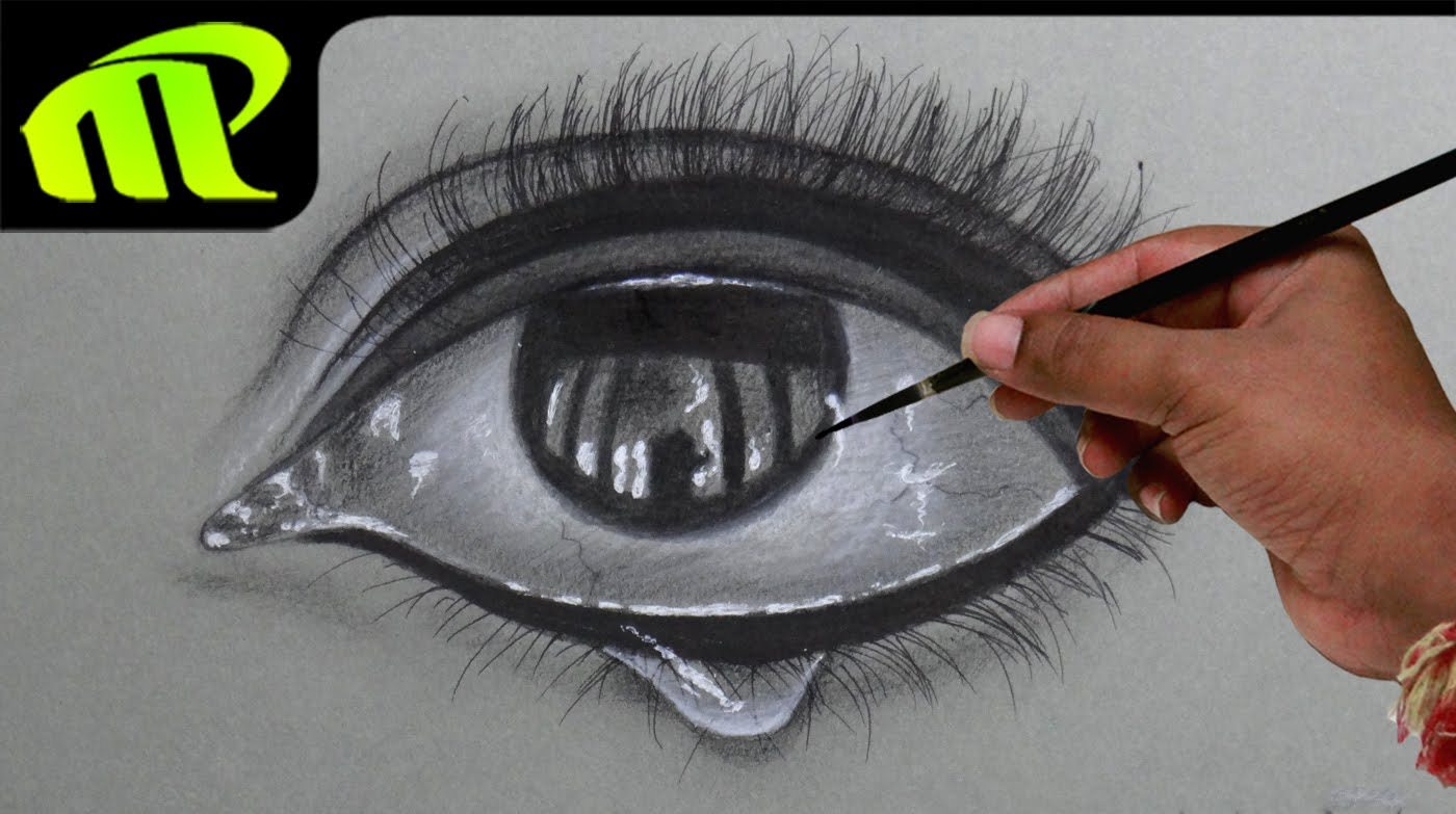 Drawn tears teardrop EYE Tear Realistic Drawing EYE