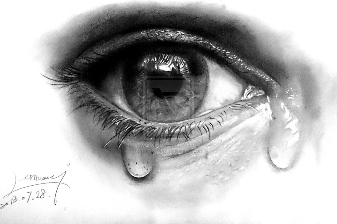 Drawn tears teary eye Can Stepbystep Image To Ways