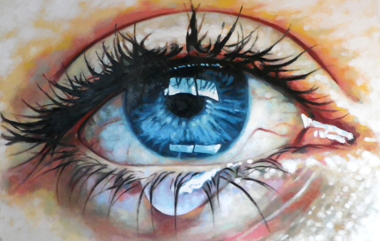 Drawn tears teary eye Up – eye up Saliot