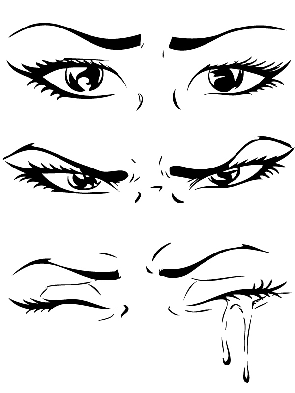 Drawn tears teary eye Eyes angry angry eyes