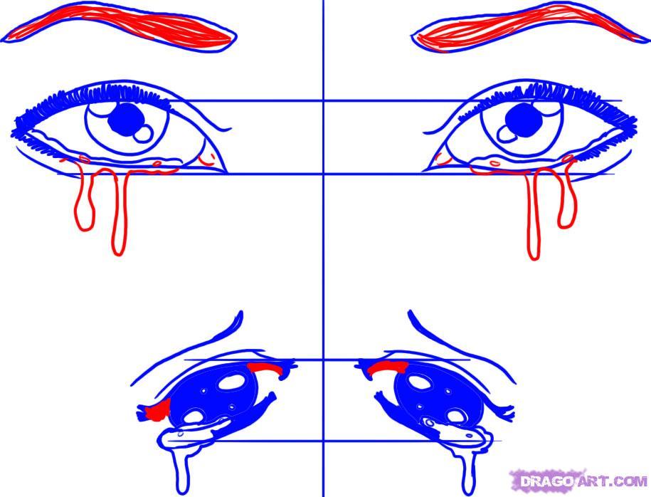 Drawn tears teary eye Eyes Eyes eyes Teary Pinterest