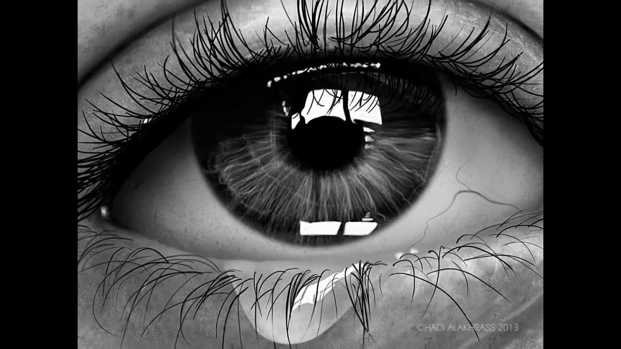Drawn tears teary eye Speed #Photoshop Eye Realistic )