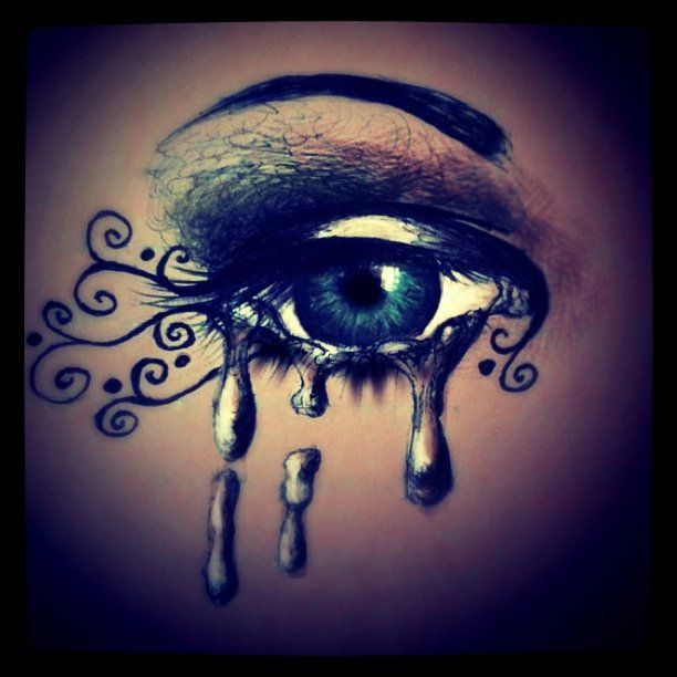 Drawn tears teary eyed Tears Graphics images galleries: Crying