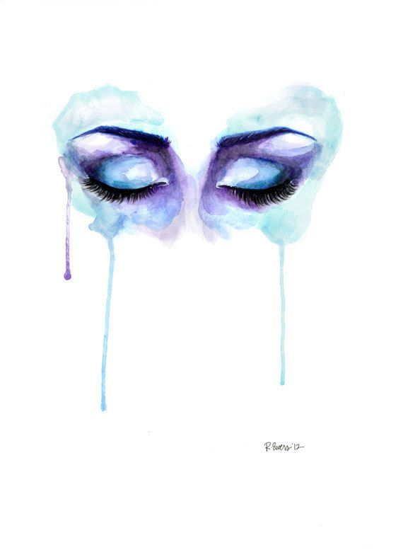 Drawn tears water dripping Inspiration Watercolor Watercolor artbyrobinewers Watercolour