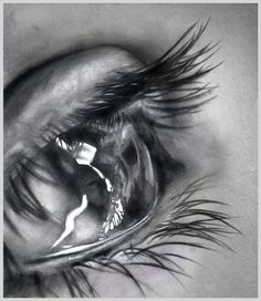 Drawn tears work Pencil drawing Drawings DRAWING Eye