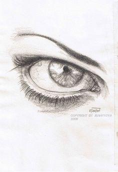 Drawn tears work  eye grief sketch work