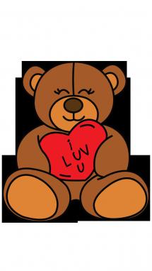 Drawn teddy bear By a Bear Valentiness Step