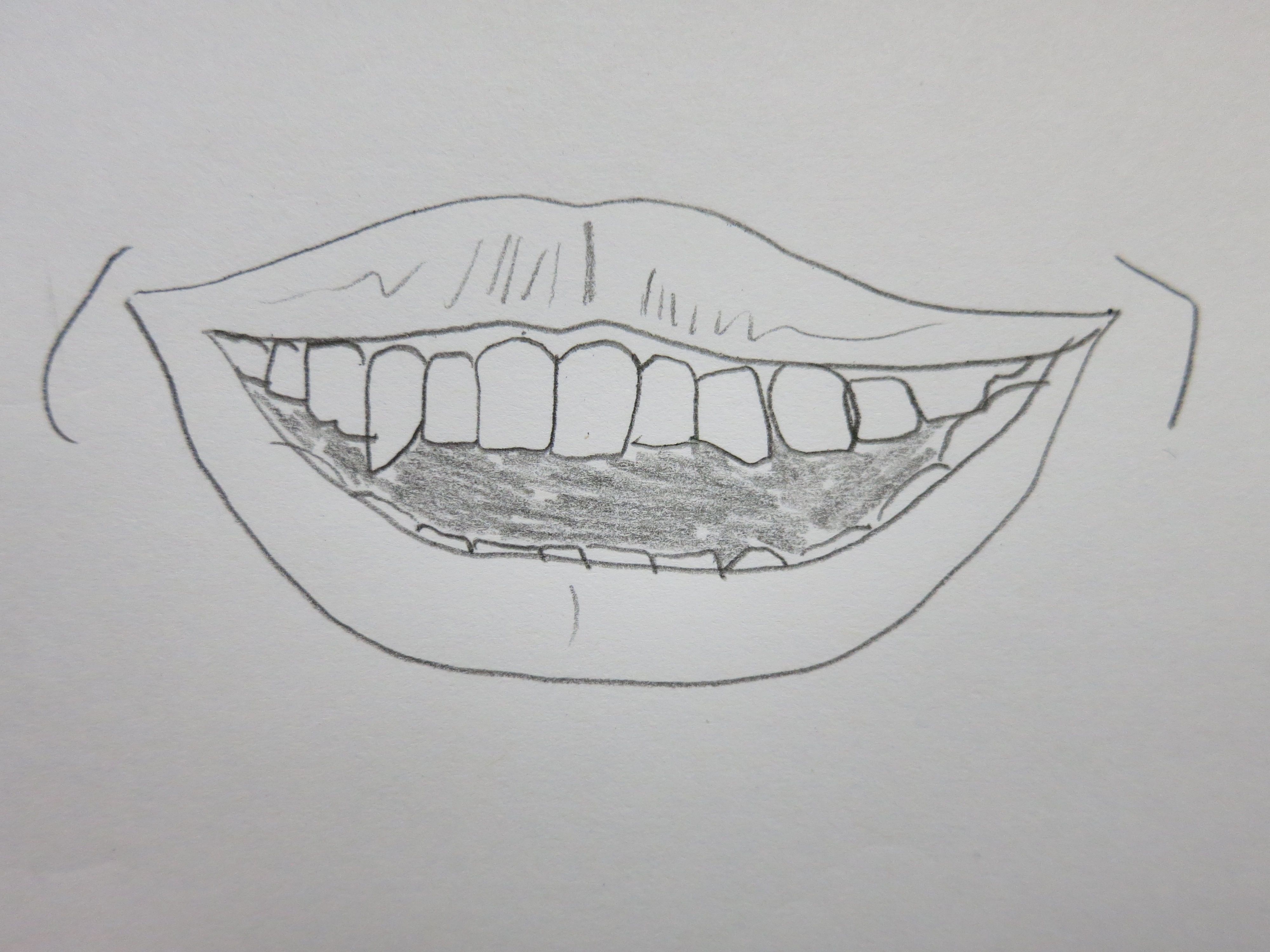 Drawn teeth Tooth  Drawing this shows