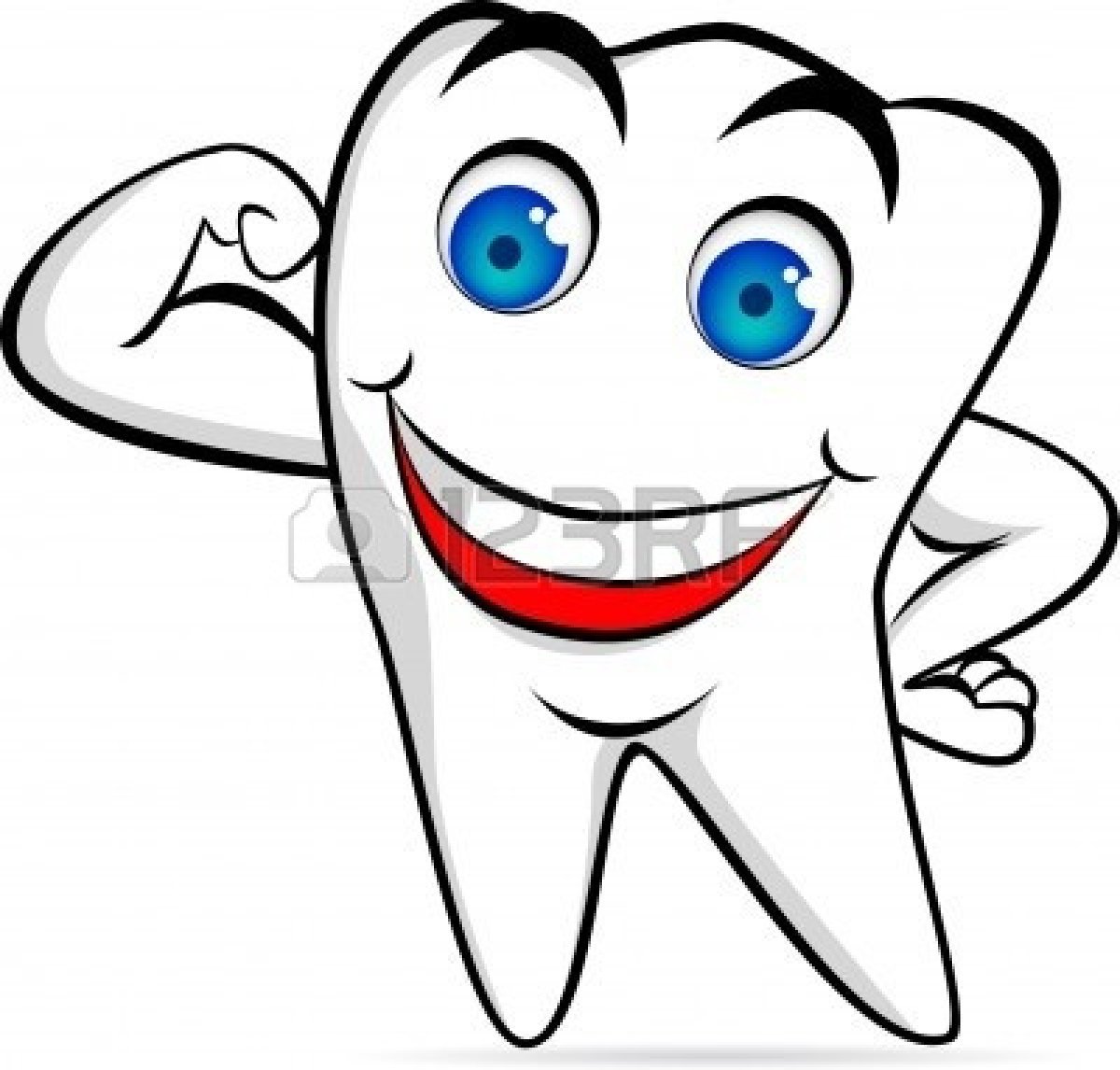 Teeth clipart strong tooth Clipart Happy Images Art Free
