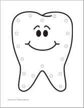 Drawn teeth printable Tooth theme Tooth for all