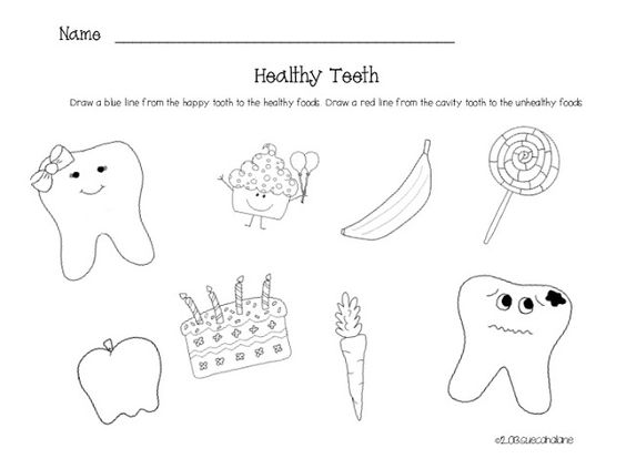 Drawn teeth unhealthy tooth Click Printables  Dental discuss