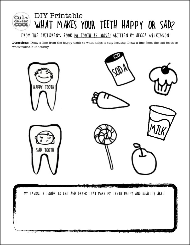 Drawn teeth unhealthy tooth Your What Book: DIY Children's