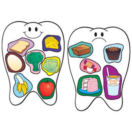 Drawn teeth unhealthy tooth A Unhealthy? tooth Healthy one