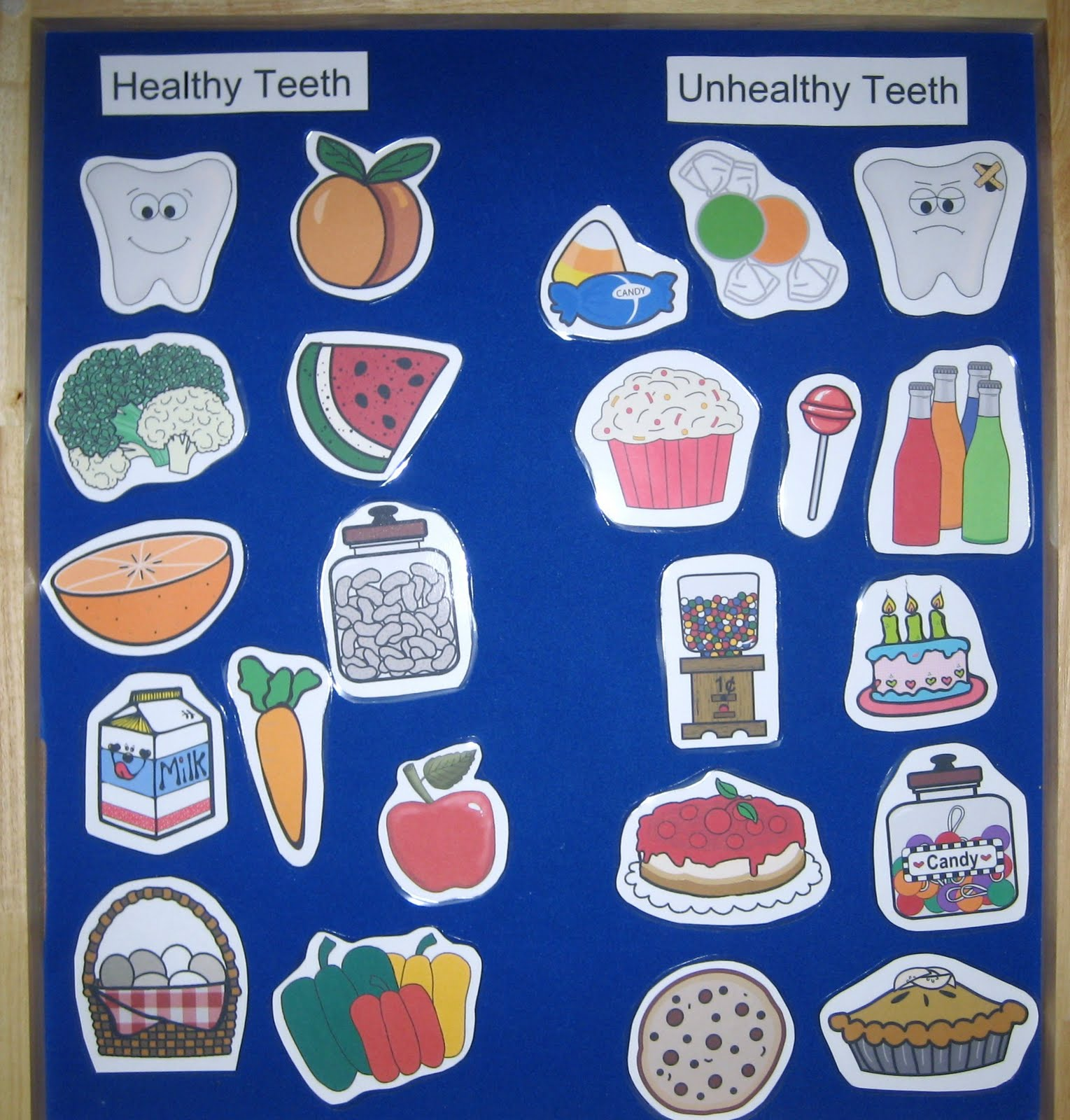 Drawn teeth unhealthy tooth Food vs use Healthy or