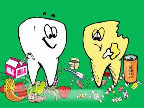 Drawn teeth unhealthy tooth Happy Tooth  Sad &