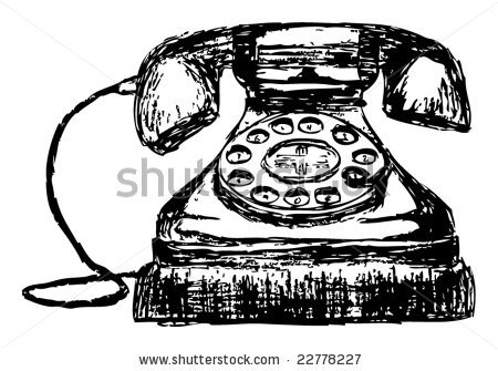 Drawn phone smartphone Old stock of Sketch vector