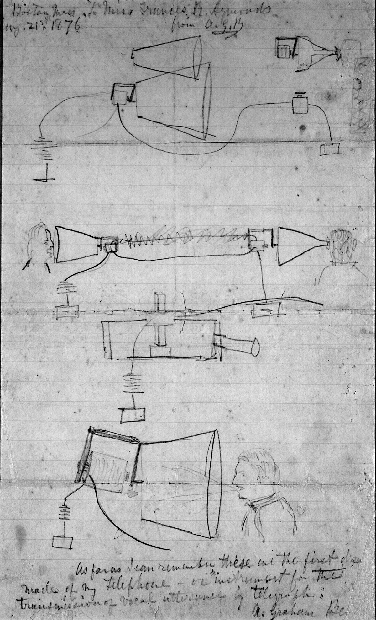 Drawn telephone alexander graham bell telephone #13