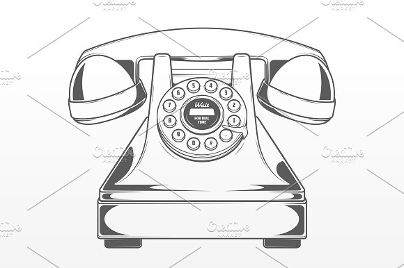 Drawn phone smartphone Objects Red Vintage  Phone
