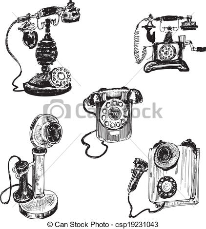 Drawn phone smartphone Of hand Vector  telephone