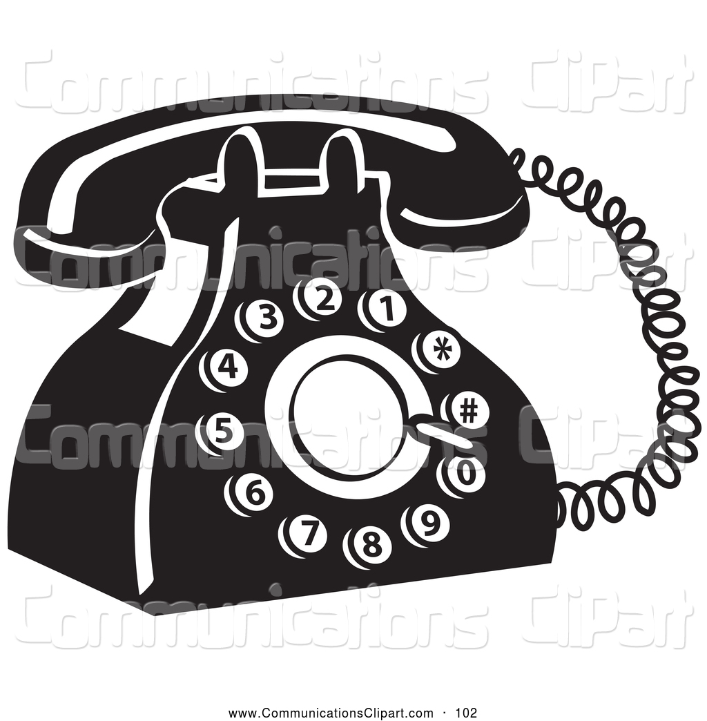 Phone clipart old style #2