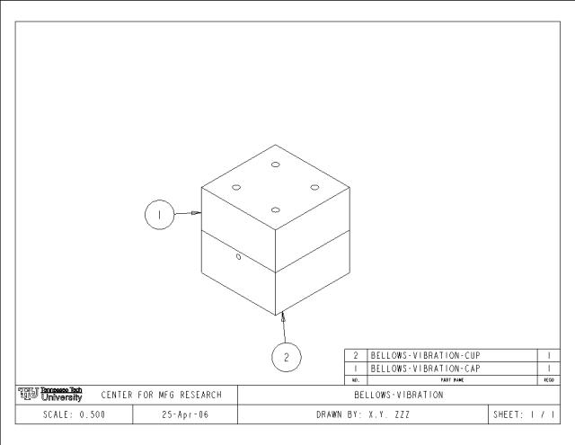 Drawn templates  CAE Drawing Network assembly TTU