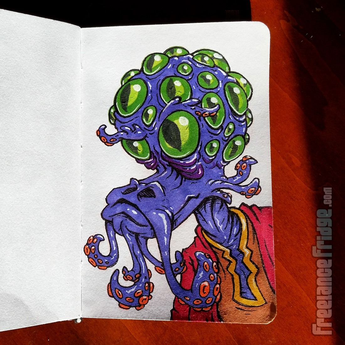 Drawn tentacle cartoon Tentacle Alien Mustache and With