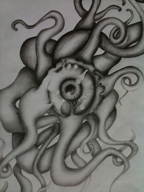 Drawn tentacle eye Pinterest best for (Dazy Design